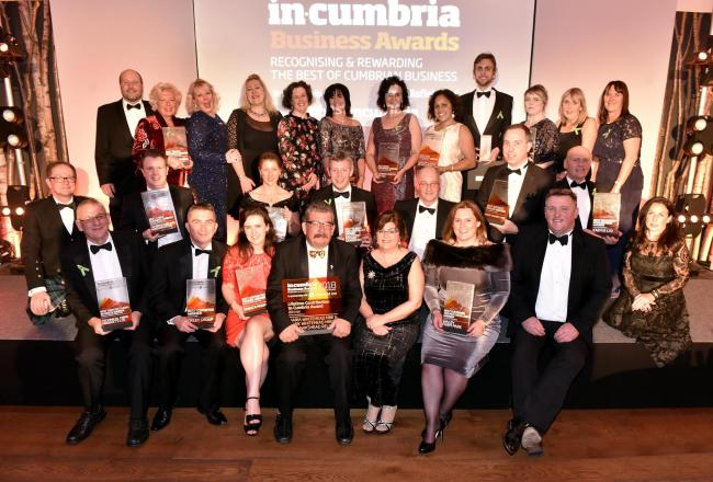WINNERS: in-Cumbria Business Awards 2018.