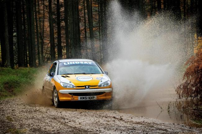 Style guys: Barry Lindsay and Caroline Lodge on their way to championship success at last weekend's Malton Forest Rally                                                                  Flying Finish Photography