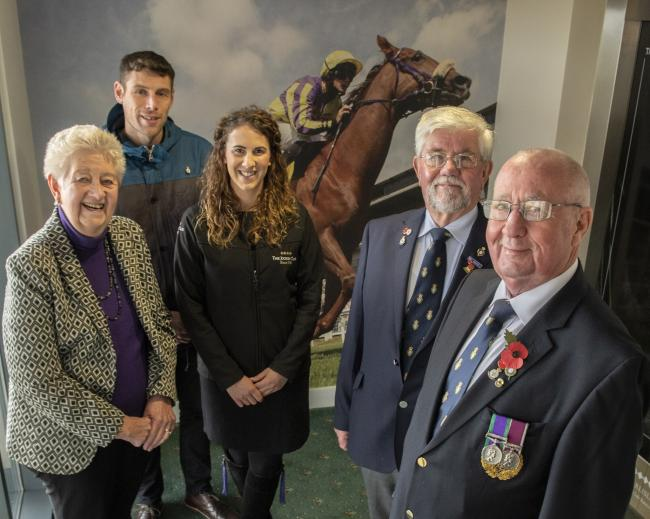 Remembrance day meeting:  From left, Cllr Elizabeth Mallinson,  Richie Hinson, Molly Dingwall, Tony Parrini and Dave Trussler (Photo: Jonathan Becker)