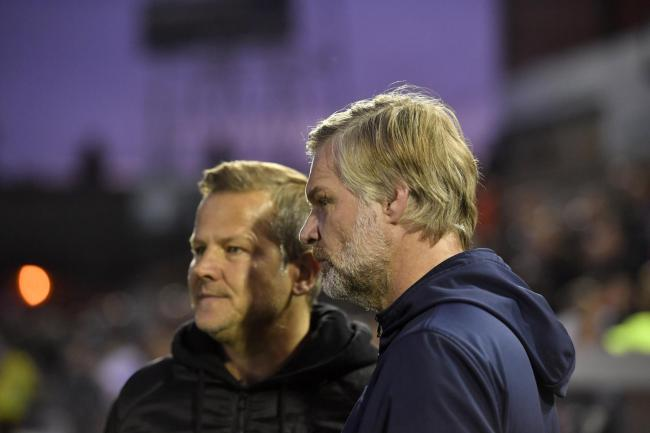 Meeting: Steven Pressley's Carlisle United side will visit Mark Cooper's Forest Green in the second round of the FA Cup (Photo: Stuart Walker)