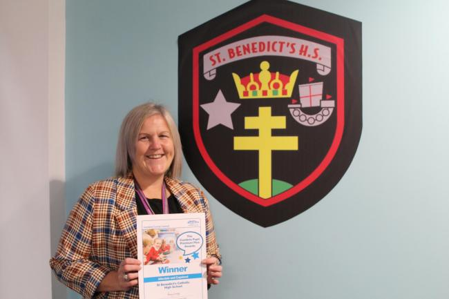 Mrs Savage - Pupil Premium Plus Award at St Benedict's School, Whitehaven
