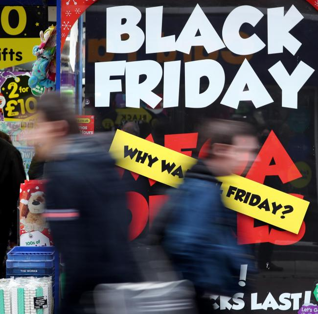 Bargains: Black Friday is set to attract more shoppers to the high street next week