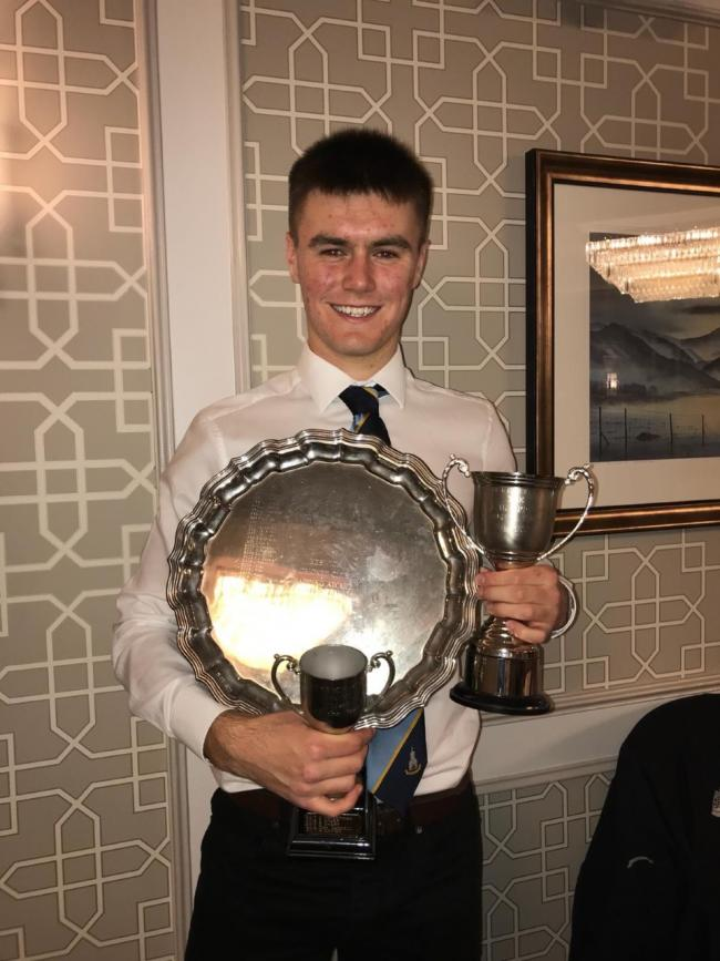 Prize guy: First-team batsman Will Atkinson scooped the major awards at Keswick Cricket Club's annual presentation evening