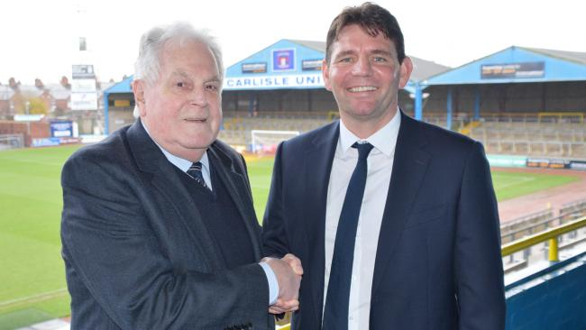 Chris Beech, right, with United chairman Andrew Jenkins (photo: Amy Nixon)