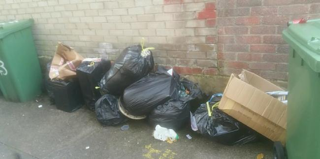 Items fly-tipped in Workington last week