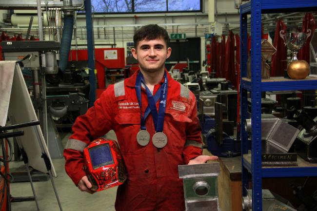 Awarded: Morgan Roberts was presented with the silver award at the SkillWeld competition at the WorldSkills UK Live event