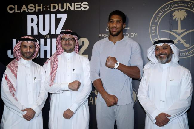 Anthony Joshua is fighting in Riyadh on Saturday