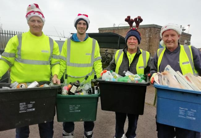 Copeland Council's recycling team