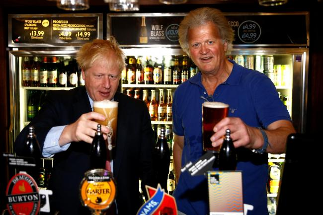 Boris Johnson and Tim Martin