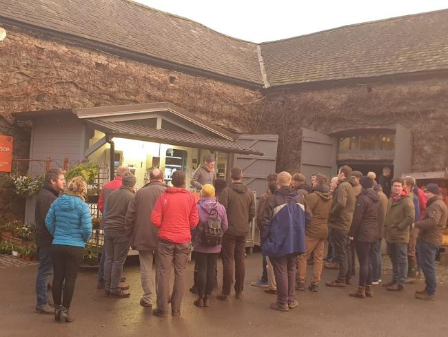Soil care: National Trust staff and their farm tenants at Low Sizergh Farm, Kendal