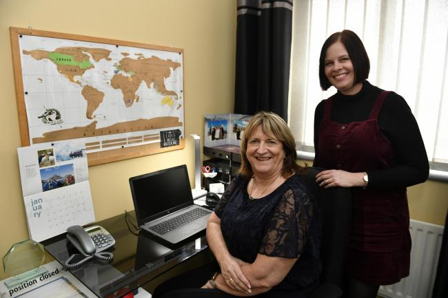 New departure: Sue Wilson, left, and Shirley McManus have found new berths in the travel industry with Designer Travel following the collapse of Thomas CookPicture: Stuart Walker