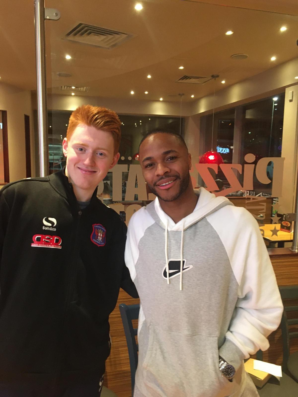 Football Superstar Raheem Sterling Visits Pizza Hut And