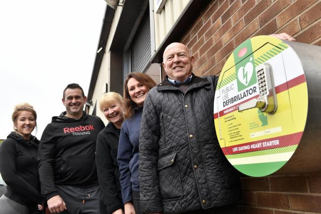 Life-saving: G&S Fitness and Tynedale Farm teamed up to by the new defibrillator 