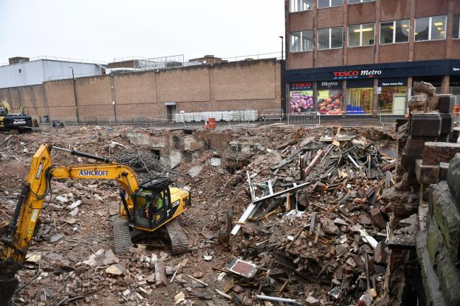 Work continues to clear up the rubble following the demolition of the Central Plaza Hotel: 9 January 2020.STUART WALKER.