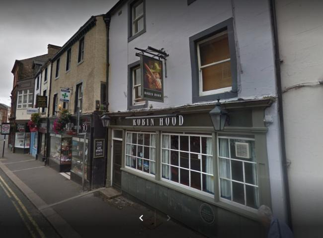 Raided: The Robin Hood Pub in King Street, Penrith (Google Street View)