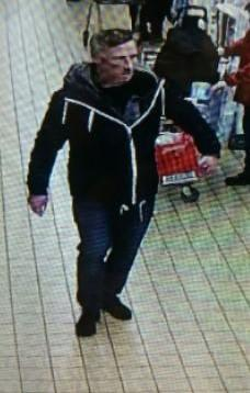 Man wanted in connection with alleged retail fraud incident in Aldi, Workington. Picture: Cumbria Police