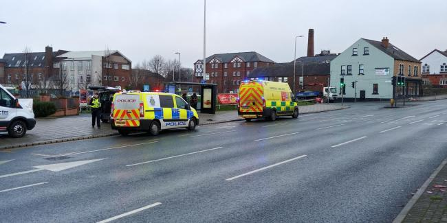 Police and paramedics called to crash on Bridge Street in the Caldewgate area of Carlisle on January 22, 2020