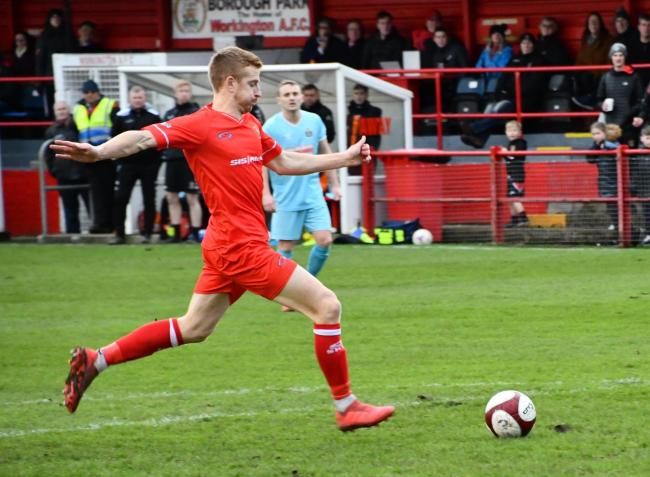 Scott Allison moves forwards for the Reds in the 2-0 win against Marske United. Picture: Ben Challis