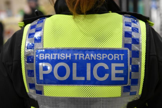 ALERT: The British Transport Police were in attendance	Picture: Stuart Walker