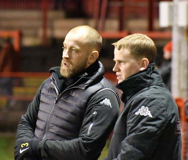 POSITIVE: Manager Danny Grainger and assistant Steven Rudd have guided Reds to second	             BEN CHALLIS
