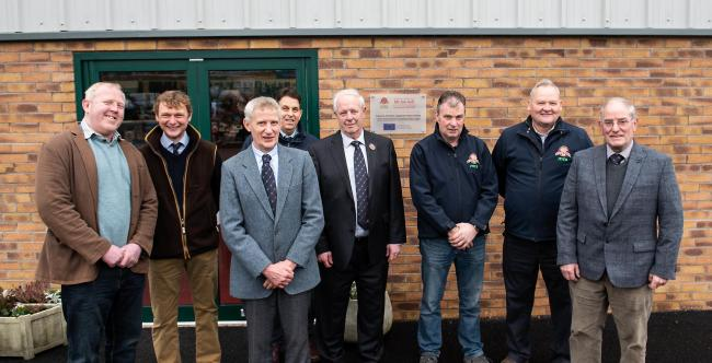 farmer-directors along with chief executive Tim Wilson.Left to right, Mark Lee, John Swainson, William Graham, chairman, Tim Wilson, chief executive, Ian Bell honorary life president, Lenard Hall, David Wright and Richard Miller.