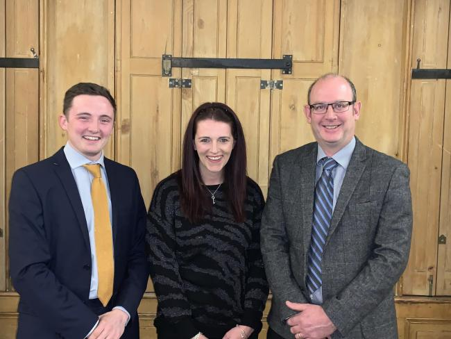 l-r:Mr Robbie Tuer (ND Chair) Miss Lisa Bowe (ND Treasurer), Mr Richard Gardiner (ND President)