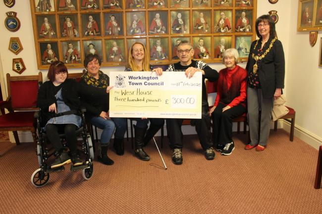 West House were awarded £300 from Workington Town Council