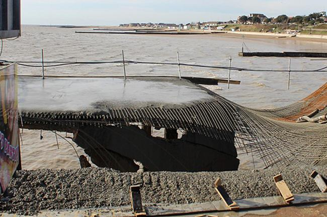 Pier collapses during construction work