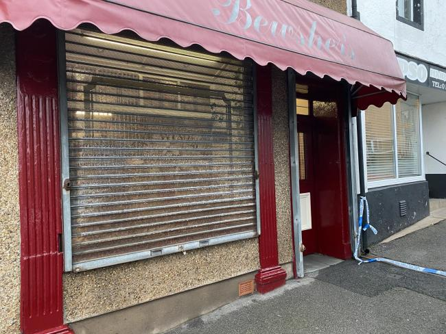 Bewsher newsagents was robbed at knife-point late yesterday evening
