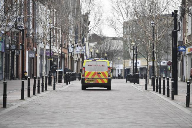 Carlisle city centre is virtually deserted at present. Picture: Stuart Walker