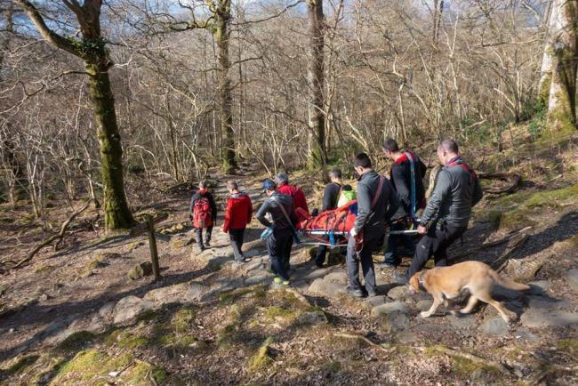 Rescue: The man was rescued from Cat Ghyll, Walla Crag. Photo: Stuart Holmes.