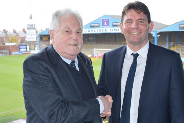 Thanks: Carlisle United chairman Andrew Jenkins has issued a statement of praise to all key workers