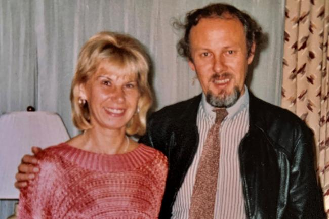 Murder victim Janet Brown and her husband Dr Grahaem Brown