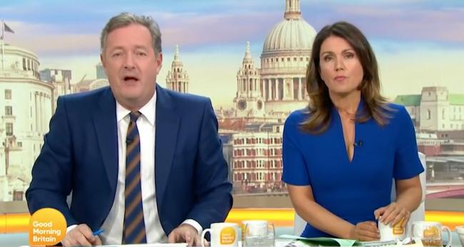 TV: Good Morning Britain with Piers Morgan and Susanna Reid. Picture: ITV