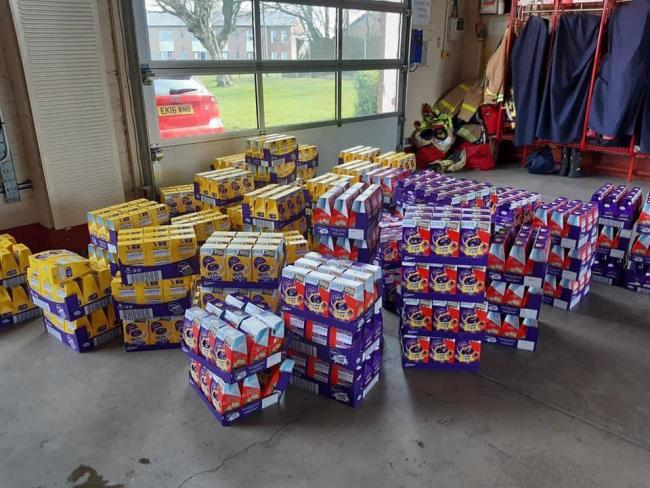 West Cumbrian Firefighters Deliver 1 000 Easter Eggs To Local Children News And Star