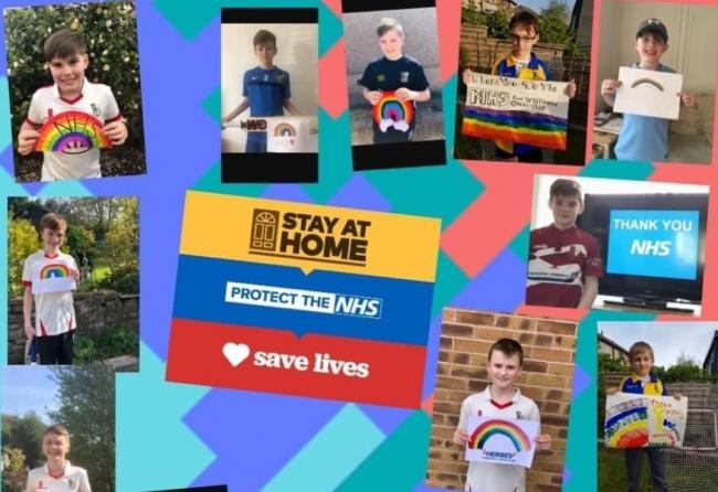 Cricket playing youngsters give thanks to the NHS