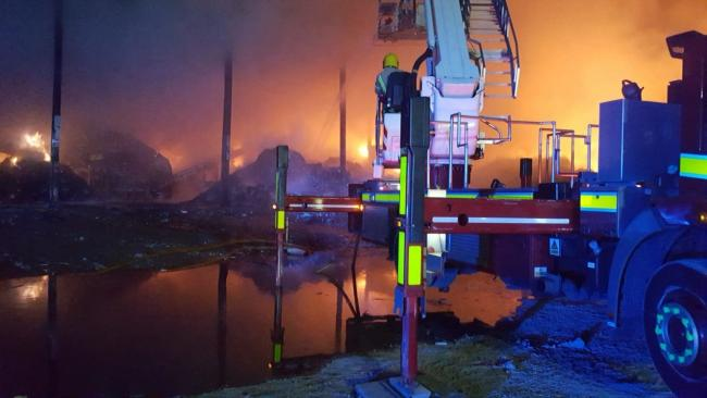FIREFIGHTERS: Crew tackled a blaze at a recycling centre in May    Picture: Carlisle East Fire Station