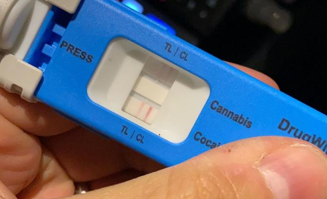 Evidence: A drug testing device used by the police