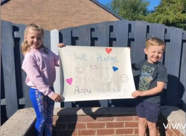 Kindness: Pupils and staff at Longtown Primary have been making pledges of kindness