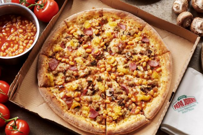 Papa John's have brought back their All Day Breakfast Pizza and launched a vegan version. Picture: Papa John's