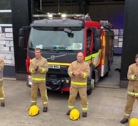 Disruption: Carlisle east fire station were called to a rubbish fire during the weekly #clapforcarers event