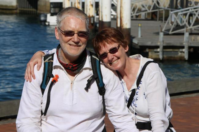 Living with Cancer and Beyond volunteer Joyce Matthews and husband Andy Whittington