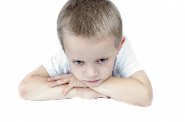 Stock image of a sad child (Image: free to use by all partners without credit)