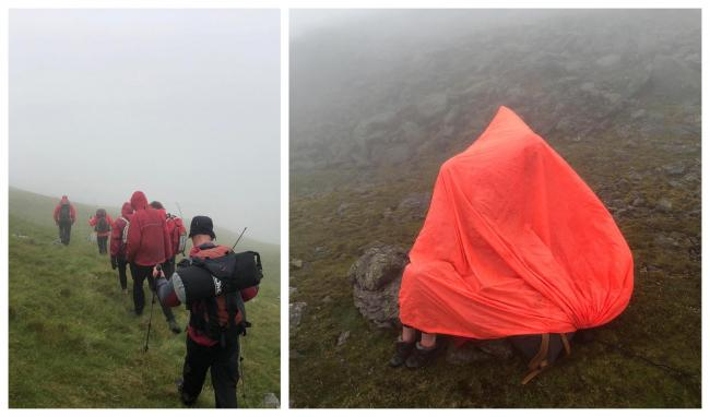 The two women got lost of Scafell in poor visibility                                Picture: Wasdale Mountain Rescue
