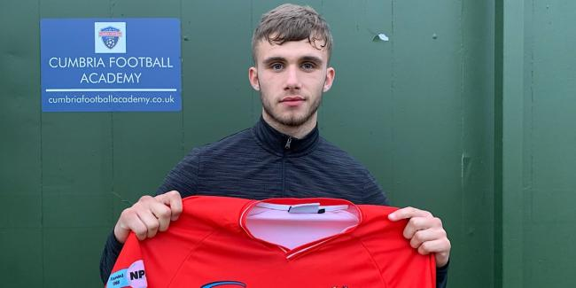 HIGH HOPES: New Reds signing Louis Potts 					    Picture: Workington AFC
