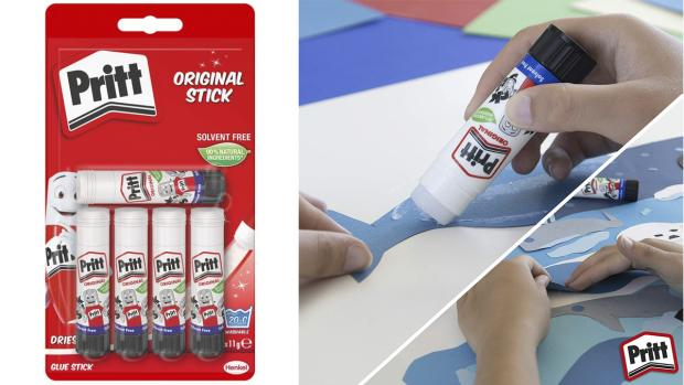 News and Star: Don't worry. These glue sticks are washable. Credit: Pritt