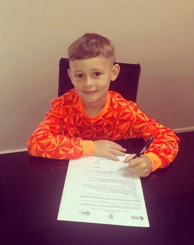 Aston Davies is thrilled to be signed for Carlisle United FC's Under 9s Academy, and can't wait to get training