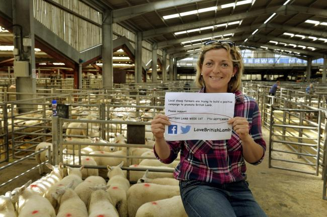 Legacy: Rachel Lumley promoting British lamb