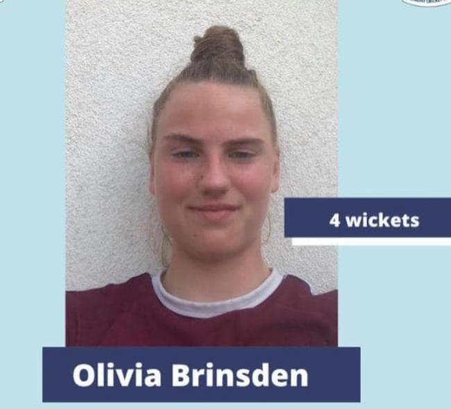 Olivia Brinsden has been named Player of the Week at the club for her performance