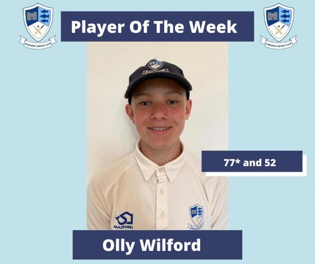 Olly Wilford was player of the week when Egremont faced Haverigg